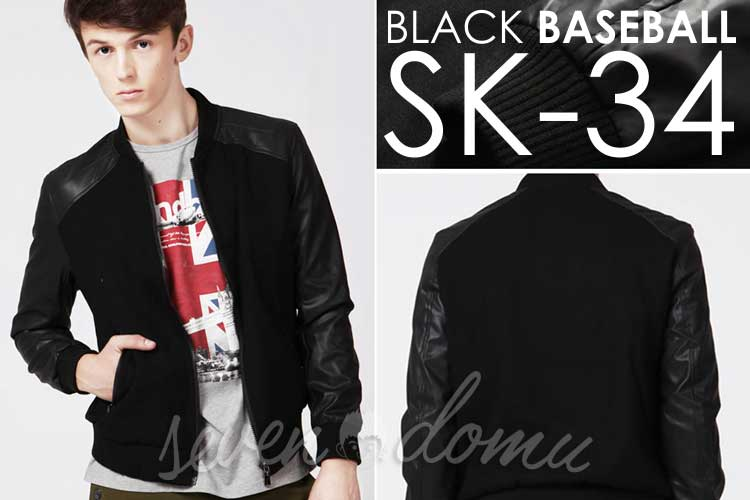 SK34-Black-Baseball-Style-Korean-Jacket