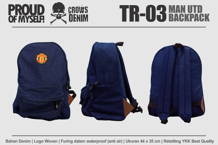 TR03 Manchester United Backpack TR03 TAS PUNGGUNG