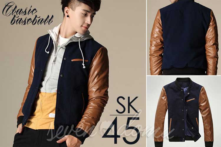 SK45-Brown-Combined-Baseball-Korean-Style-Jacket
